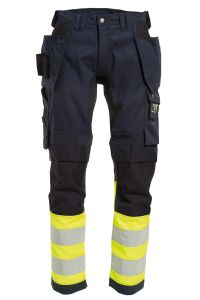 Ladies Craftsman trousers with stretch, Color: 94 yellow/navy