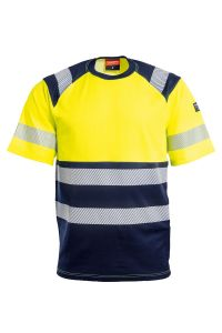 T-shirt, Color: 94 yellow/navy
